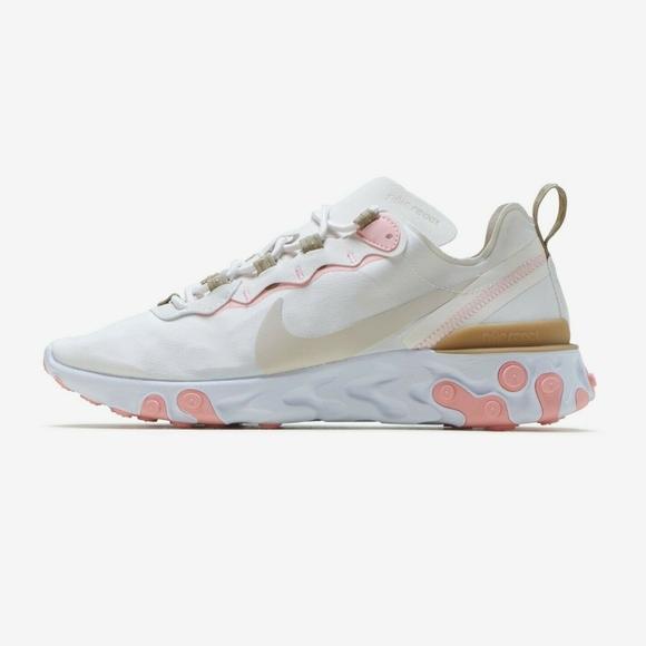 NIBNike React Element 55 Pink&Tan sneakers